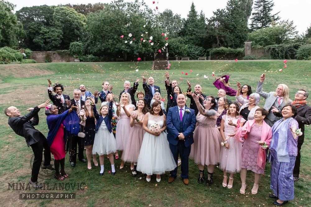 York House Wedding Sunken Gardens