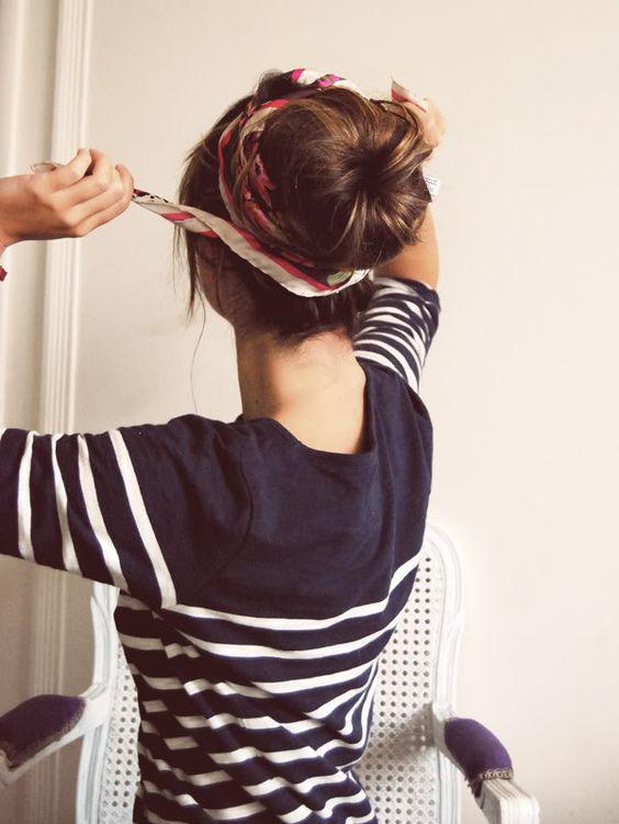 nautical hair scarf