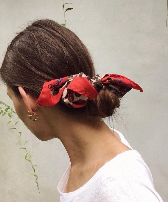 french scarf bun