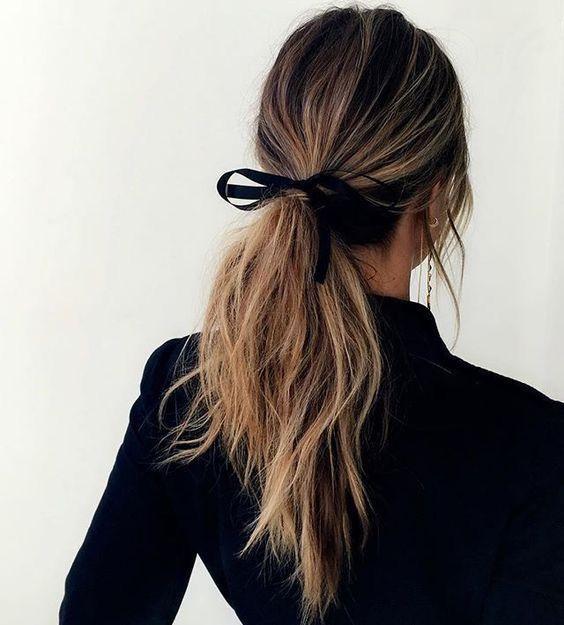 simple black bow