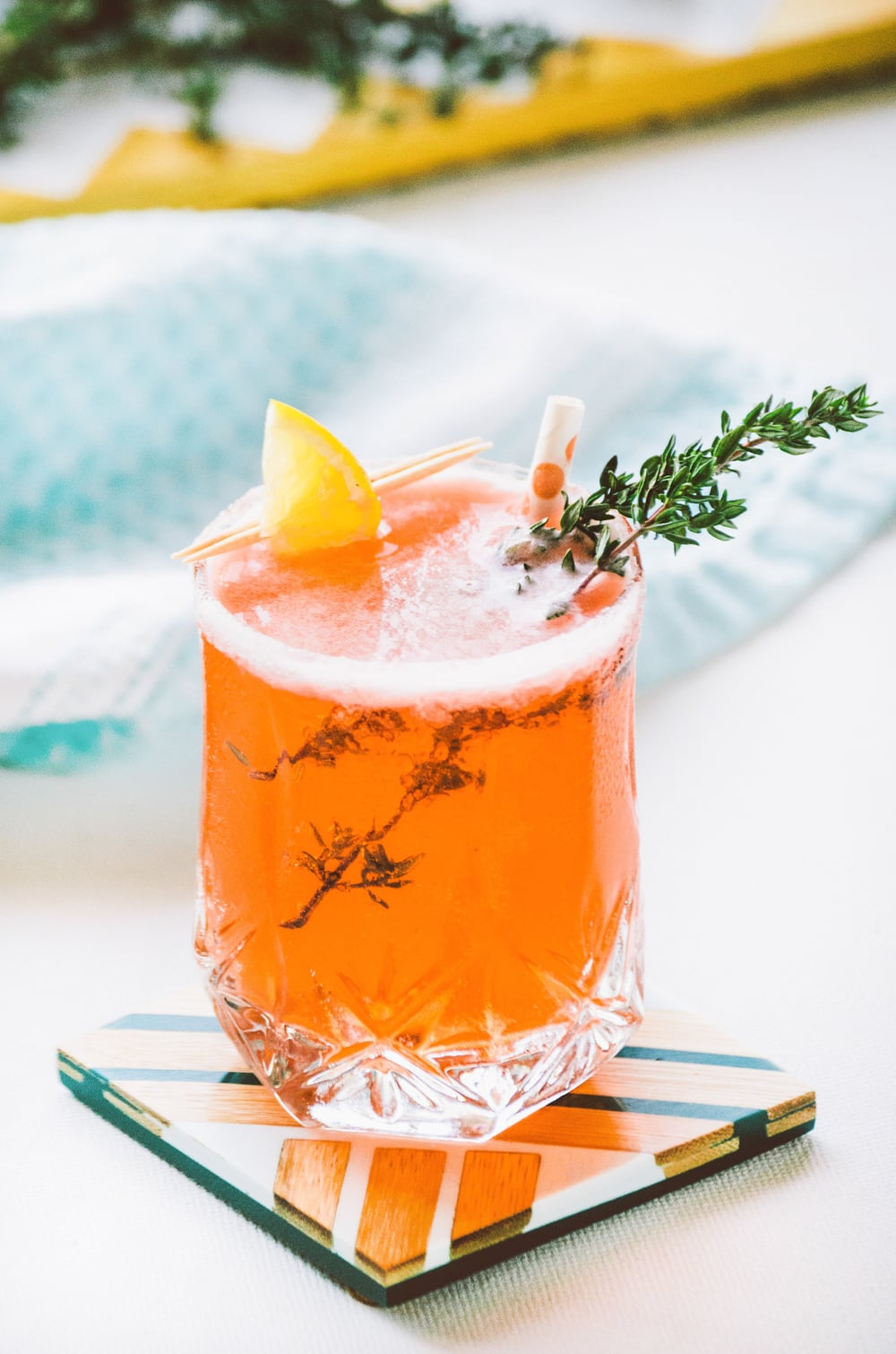 Strawberry Balsamic & Thyme Vodka Tonic   Recipe & Styling by  Dani Colombatto