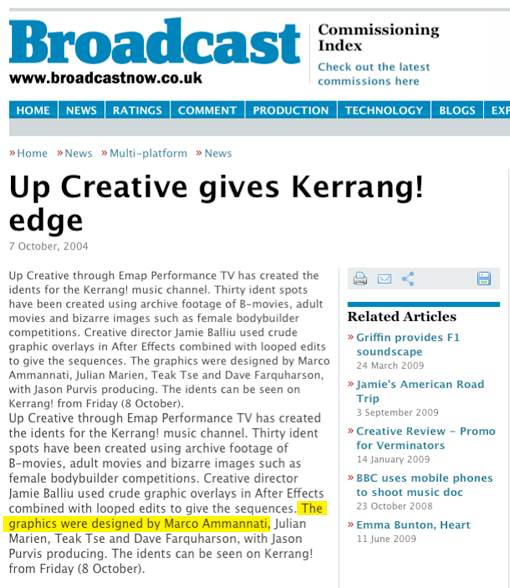 Broadcast: Kerrang! - October 2004