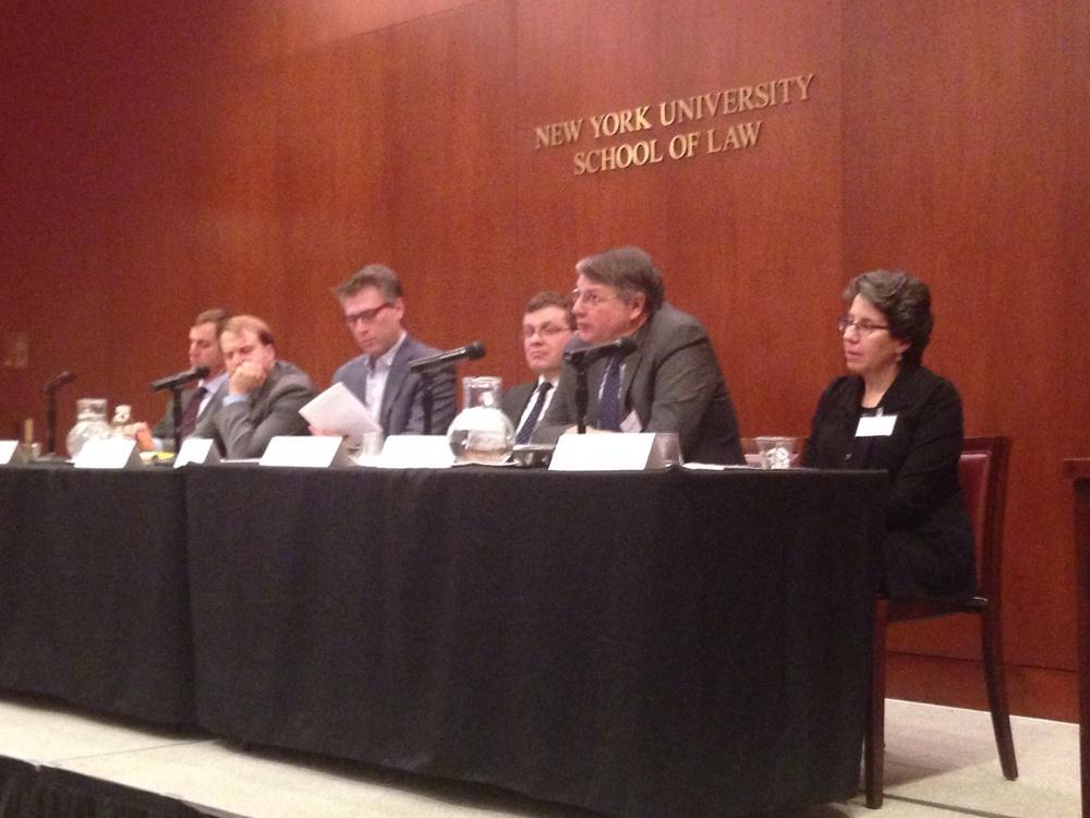 Daryl Levinson, Steven Menashi, Christopher Sprigman, Ilya Somin, Thomas Merrill, Deborah Malamud (from left to right)