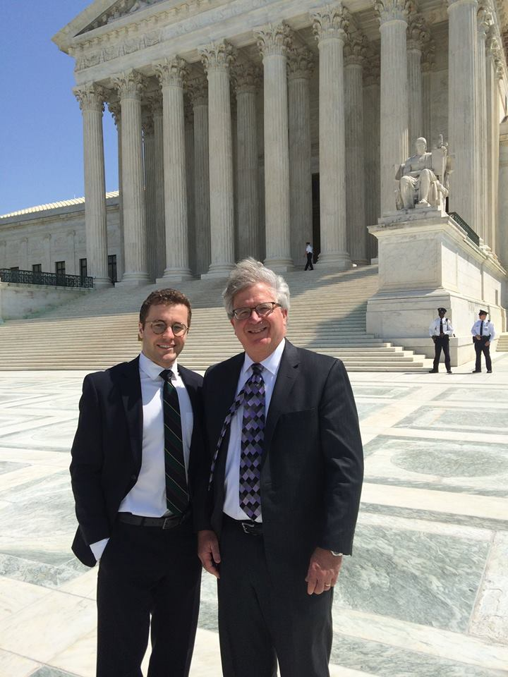 JLL's Max Raskin with Horne attorney Michael McConnell following Horne oral arguments