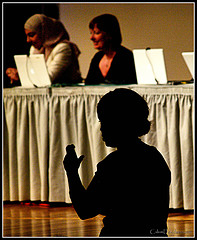 Sign Language Interpreter at a Conference