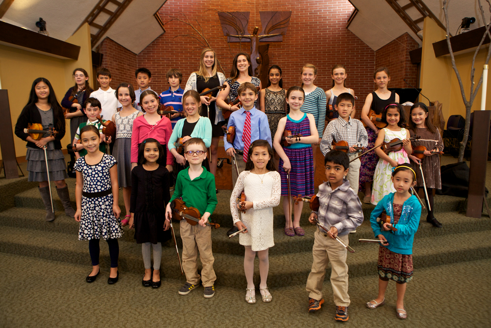 Proud musicians at our Spring Recital in 2015.
