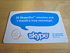 Expired Skype Calling Card, front