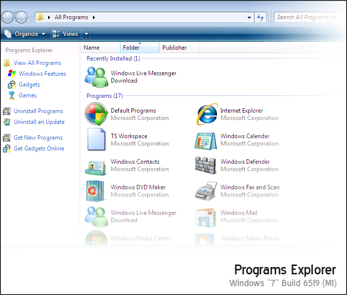 Programs Explorer