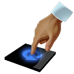 User uninstalling QuickTouch with a push of a button.