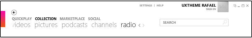Zune interface, new Radio feature