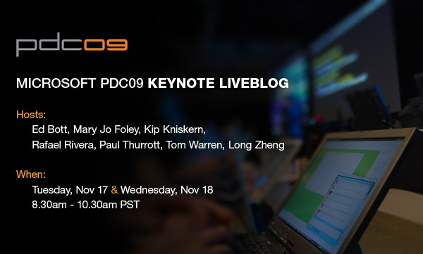 Microsoft PDC 09 Keynote Liveblog