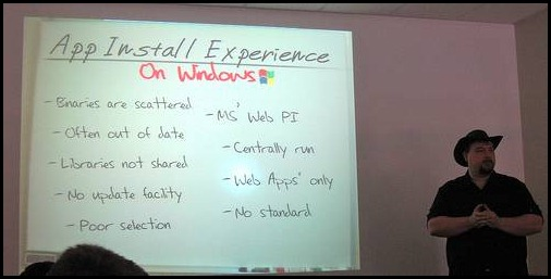 "Garrett's awesome presentation, ""App Install Experience on Windows"""