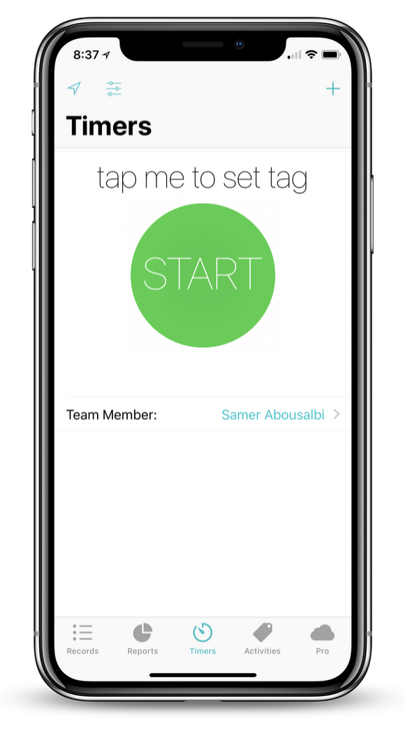 Step 6 - Start Timer normally - Either select a tag or run it as a blank timer, just as before. The difference now is that this timer will belong to this team account.