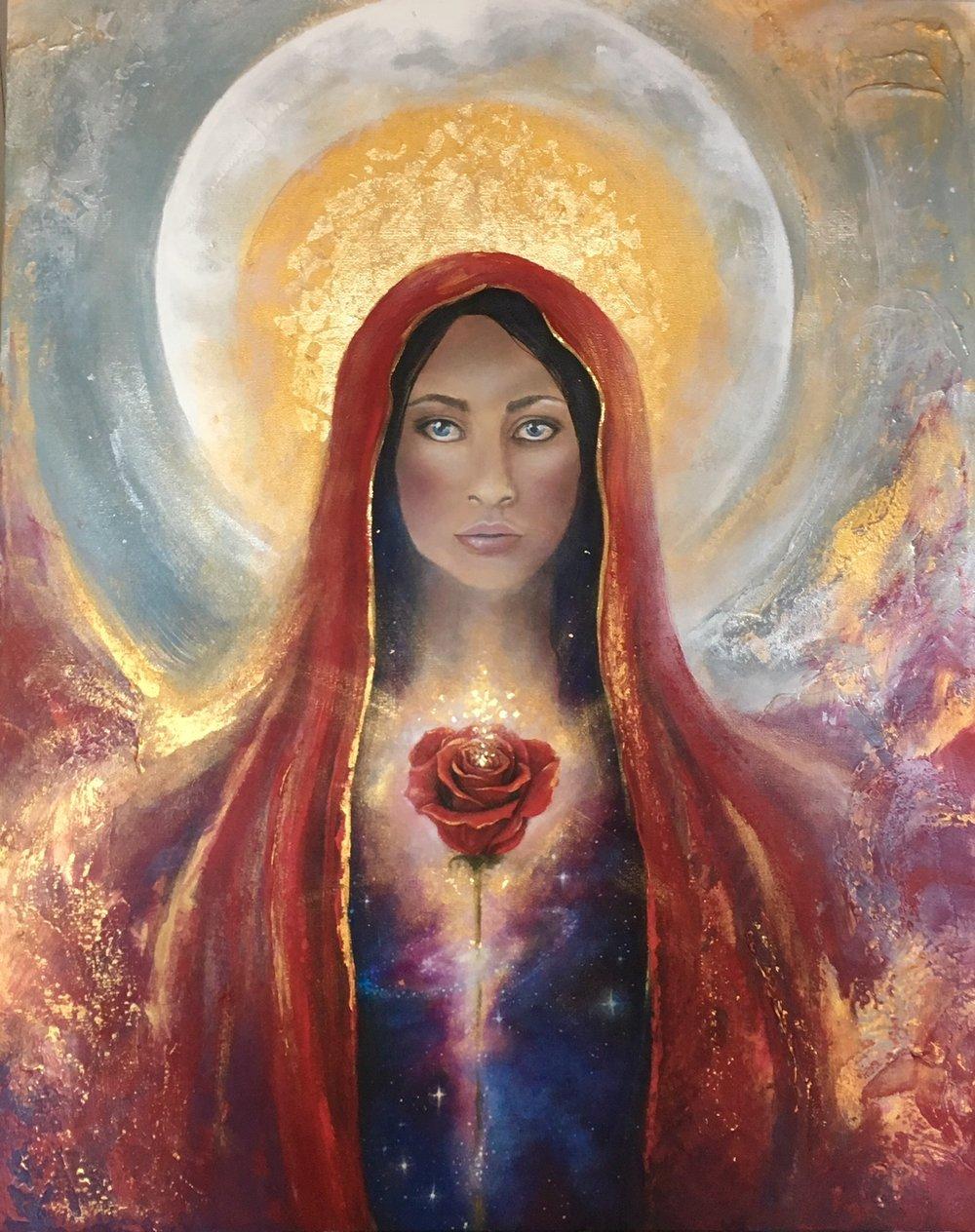 Artwork by Goddess Rising Moon Priestess Sister, Linzy Arnott