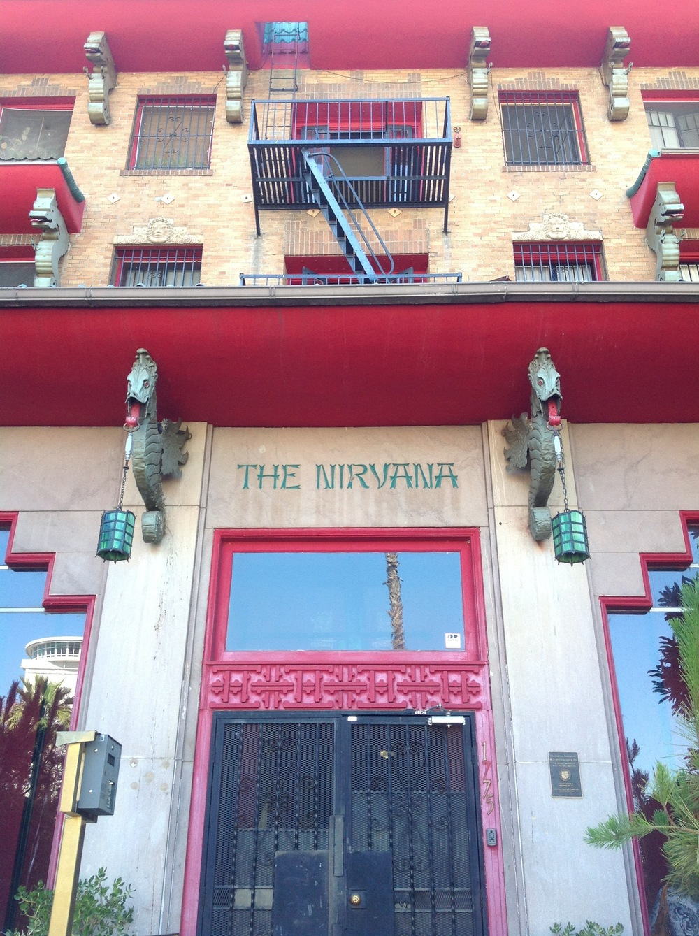 The Nirvana Apartments where some Magic Castle performers stay