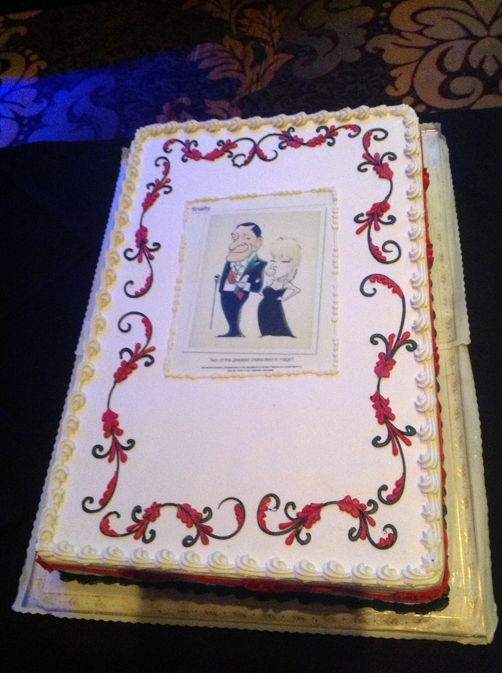 """Finally""Cake from Lance Burton"