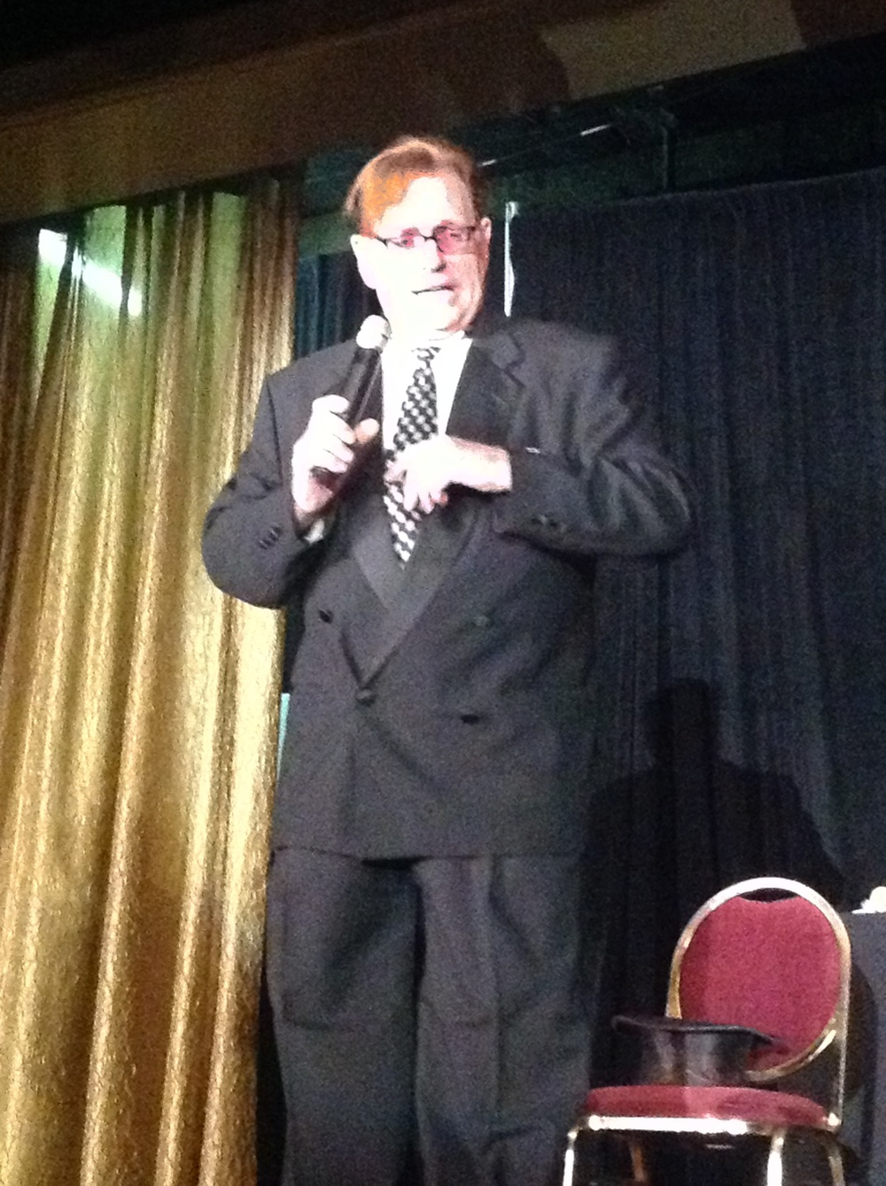 Fielding West at evening comedy show