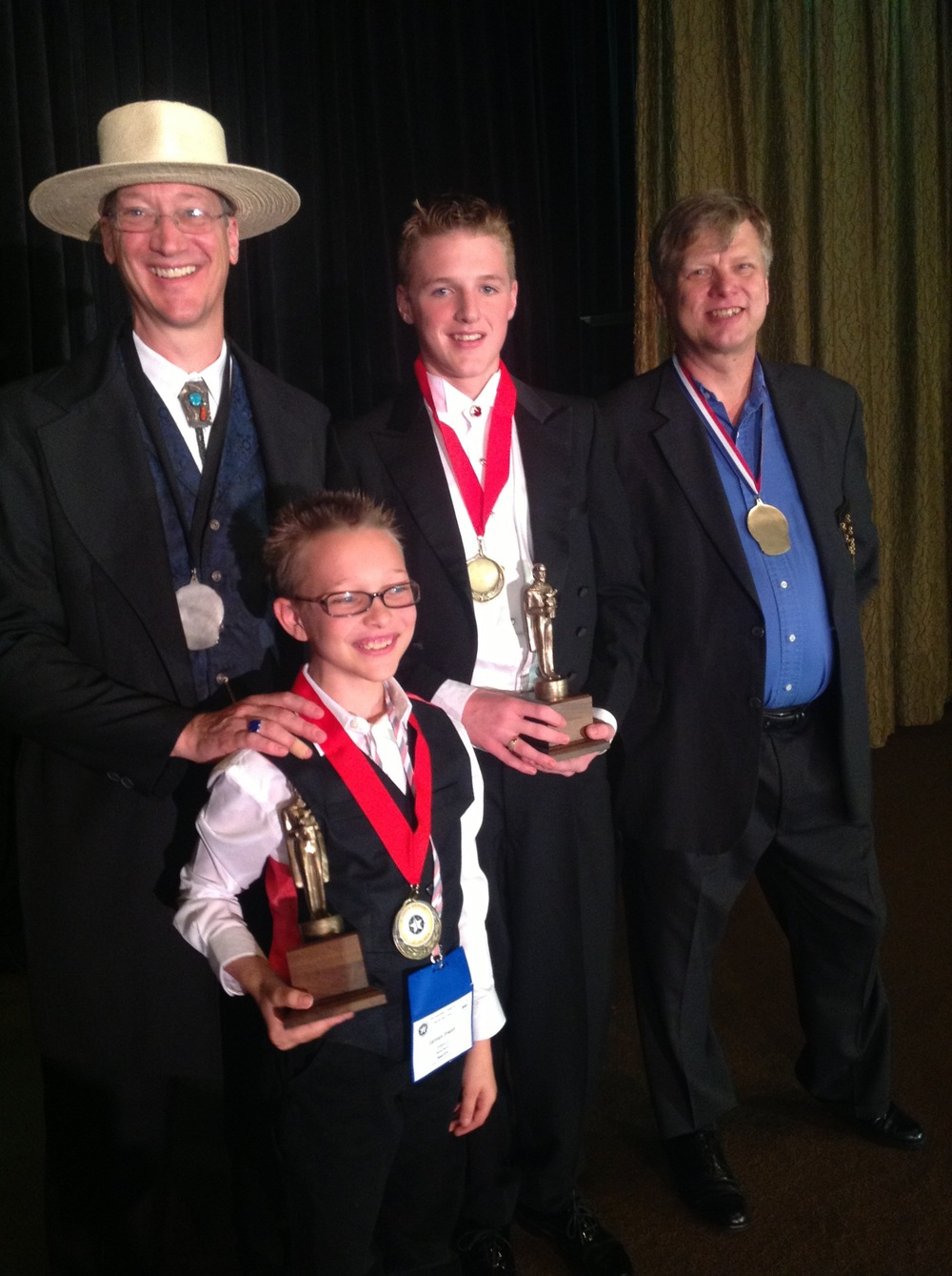 Jr. Co-Winners James Irwin and Chase Hasty with Bill Irwin and Mark Jensen