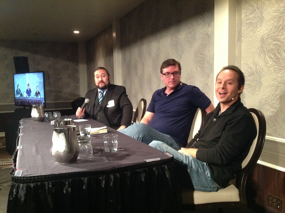 "Paul Draper leads panel discussion with Joe Atmore and Paul Vigil on ""Magic and Mentalism"""