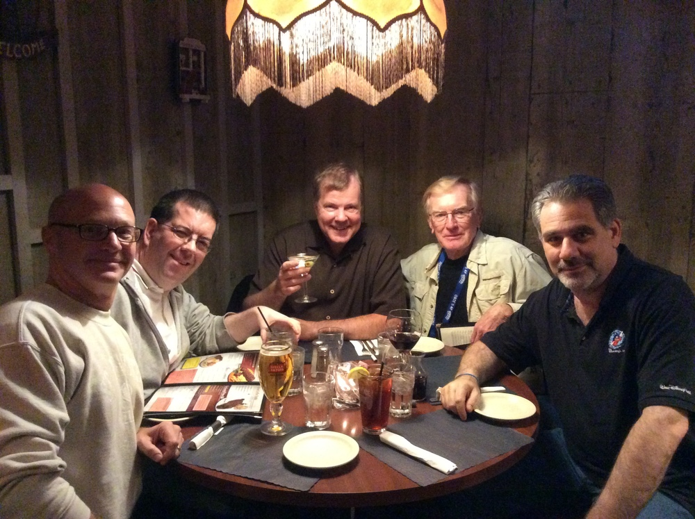 At Alex's Steakhouse in Batavia, NY with Geoff Williams, Peter McLanachan, Scott Wells, Don Wiberg, and Steve Friedberg.