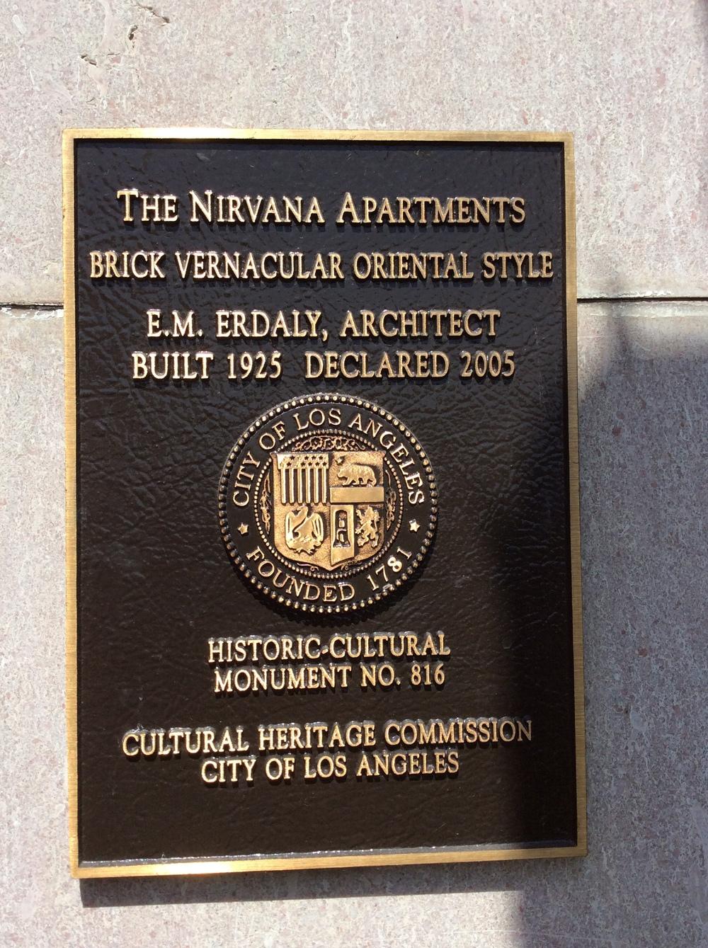 Nirvana Plaque.JPG