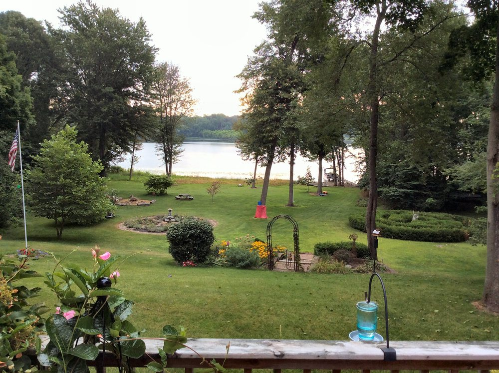 Backyard view of the house from the dock