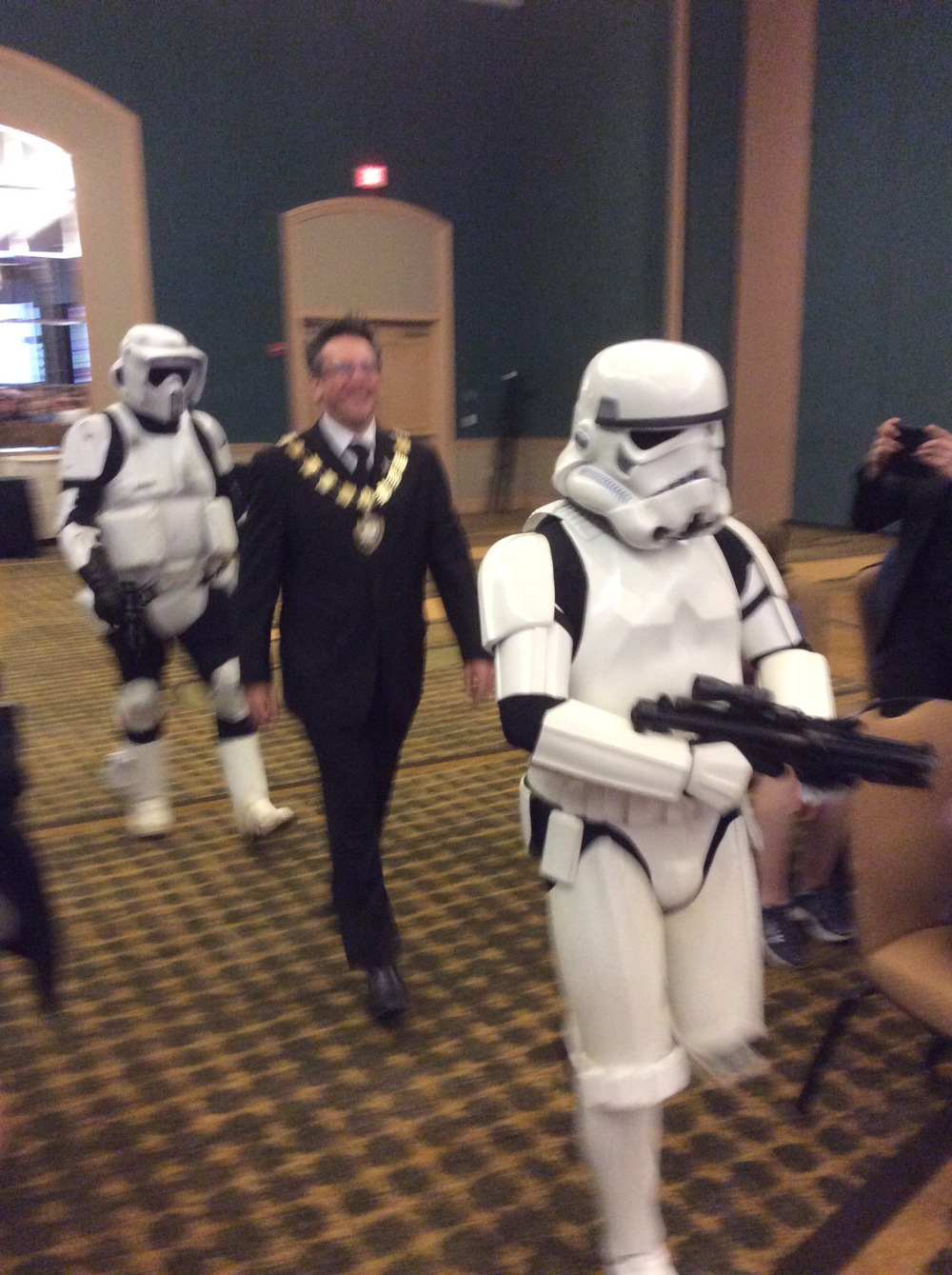 IBM International President Shawn Farquhar and Storm Troopers