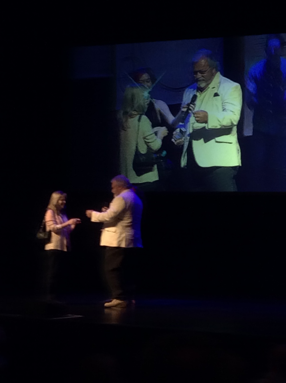 A surprise on-stage marriage proposal