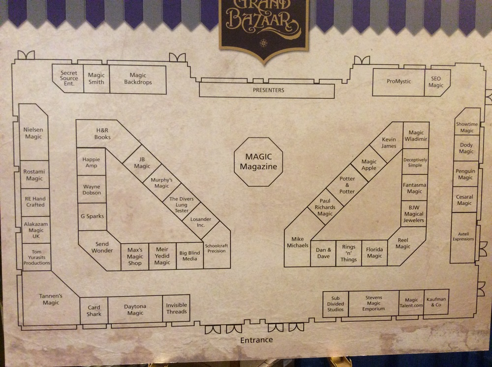 Dealer room layout