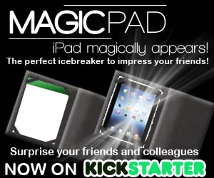 MagicPad is a versatile, packs flat, plays big effect (performed at the Magic Castle) AND it's a very useful iPad case for daily use!