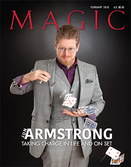 Jon Armstrong on the Cover of February 2016 MAGIC Magazine