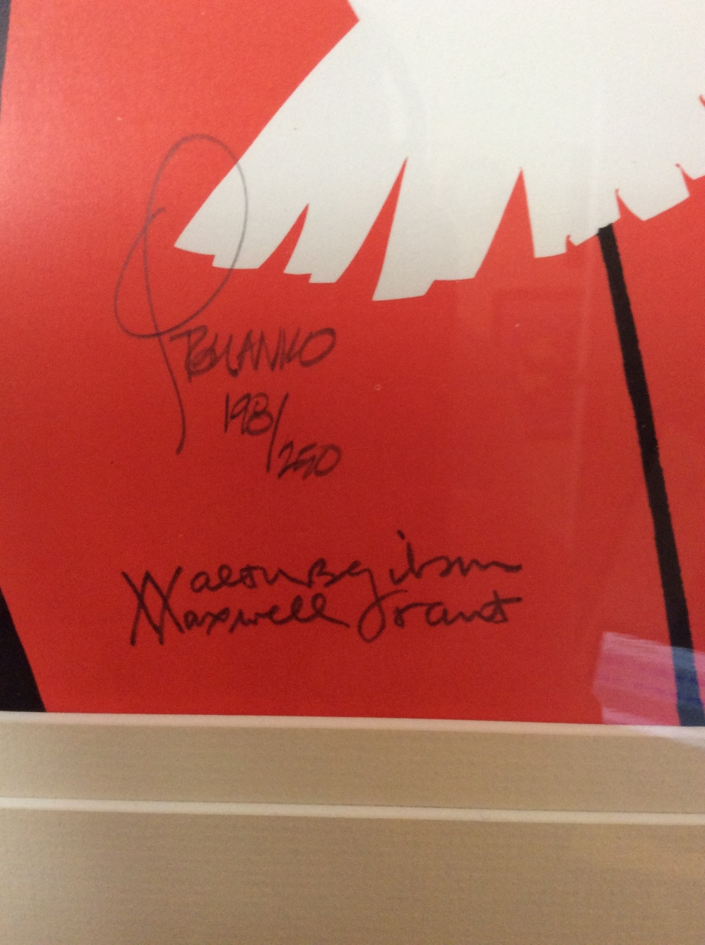 Close-Up of Signatures on the Norgil Poster