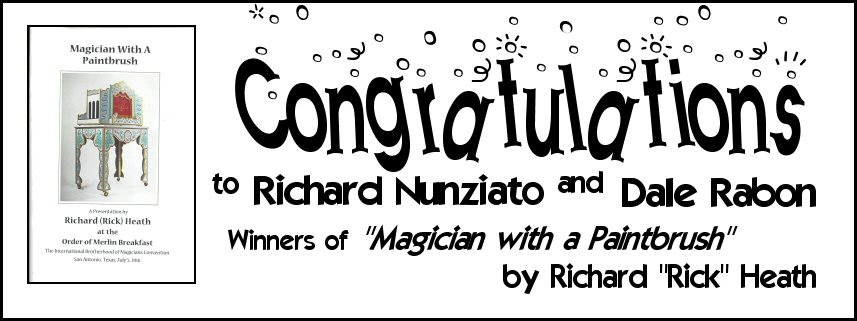 """Thank you everyone who entered the contest to win one of two hard copies of Rick's booklet that accompanied his speech before the """"Order of Merlin"""" members' breakfast. Watch for upcoming opportunities to win prizes from The Magic Word."""