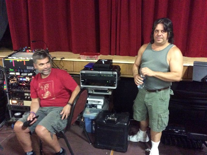 Mark Holstein (Stage Manager) and Steve Chezaday (part of the Stage Crew)