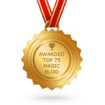 In 2017 The Magic Word Podcast was recognized by Feedspot.com as being in the top 75 magic blogs out of the thousands on the internet.