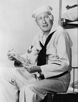 "Carl Ballantine as ""Lester Gruber"" on ""McHale's Navy"""