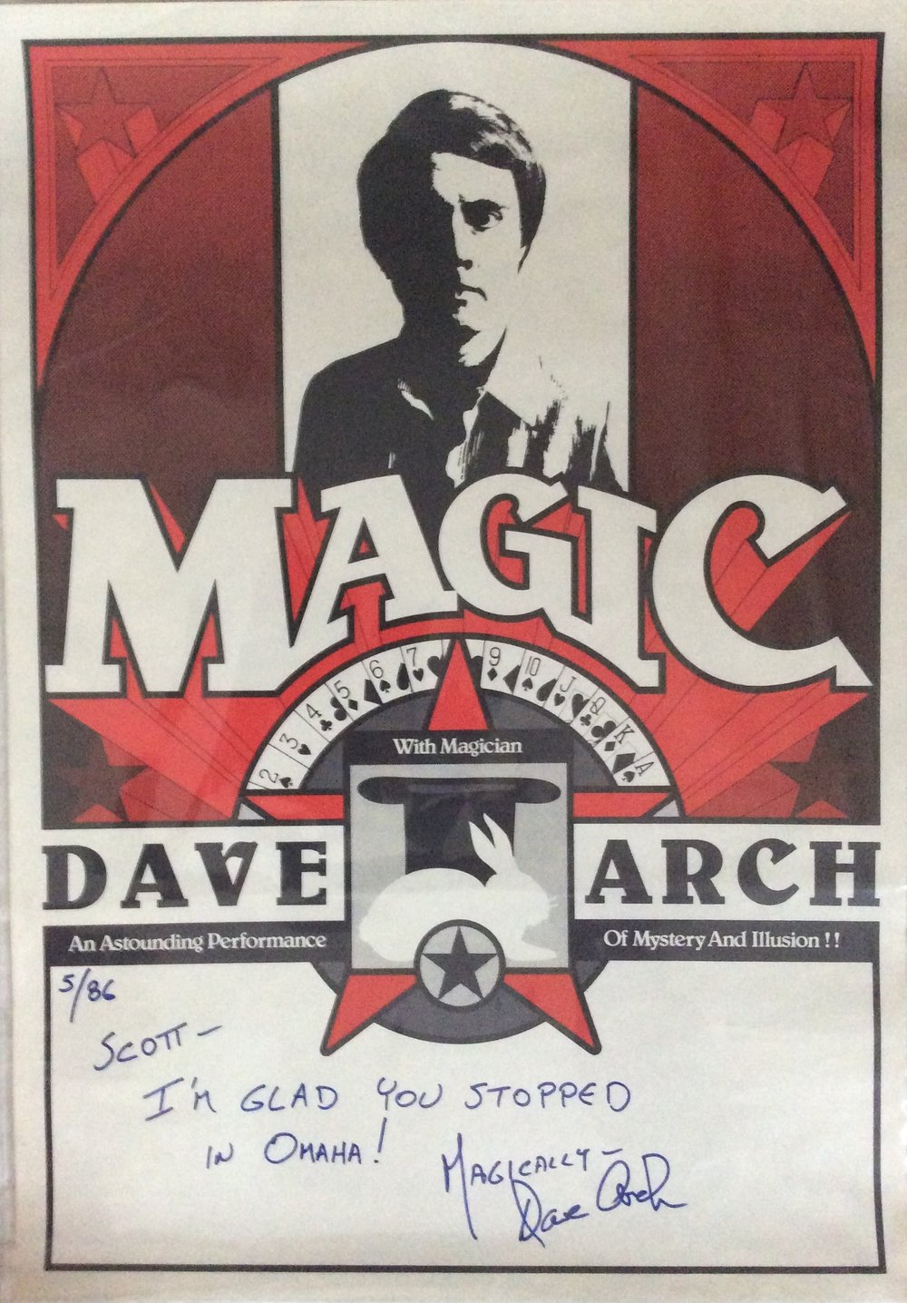 Vintage Dave Arch poster from 1980's