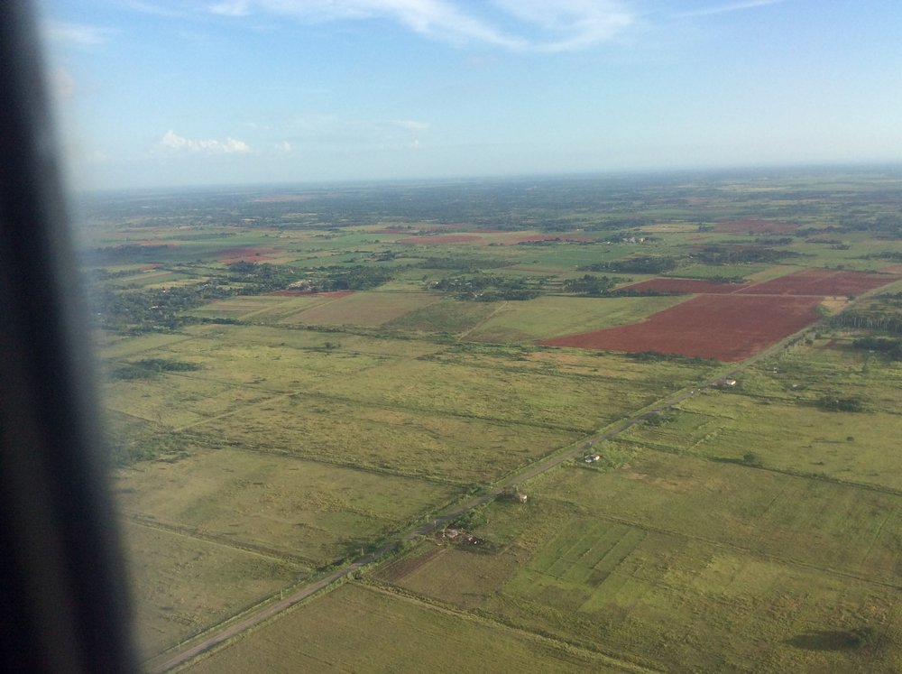 First view of Cuba before landing in Havana