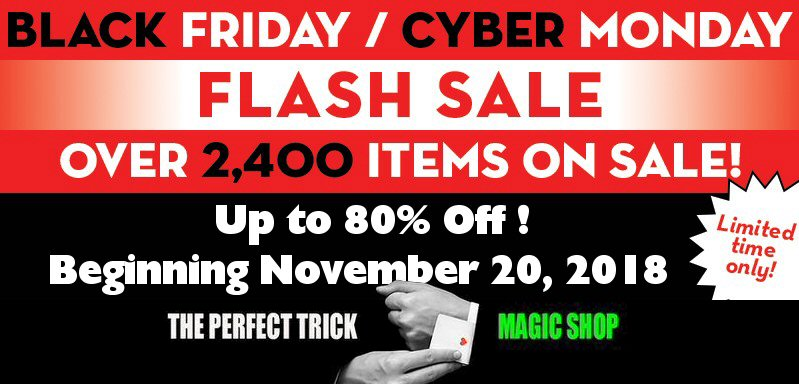 It's time for our biggest and best flash sale yet! This will include over 2,400 different products with 373 items new to this sale. Starts 8:00 a.m. PST on November 20, 2018 and ends at 12:00 p.m. PST December 4, 2018.