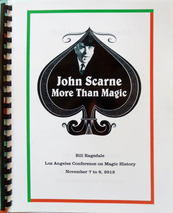 Bill Ragsdale's Book on John Scarne