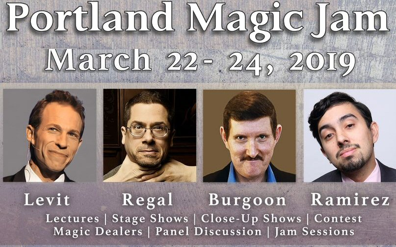 Portland Magic Jam - Tenth year for this intimate gathering of magicians in the Northwestern U.S. Click on the banner above for more information. Don't miss out attending if you can make it. If not, then make plans now to attend March 27-29, 2020.