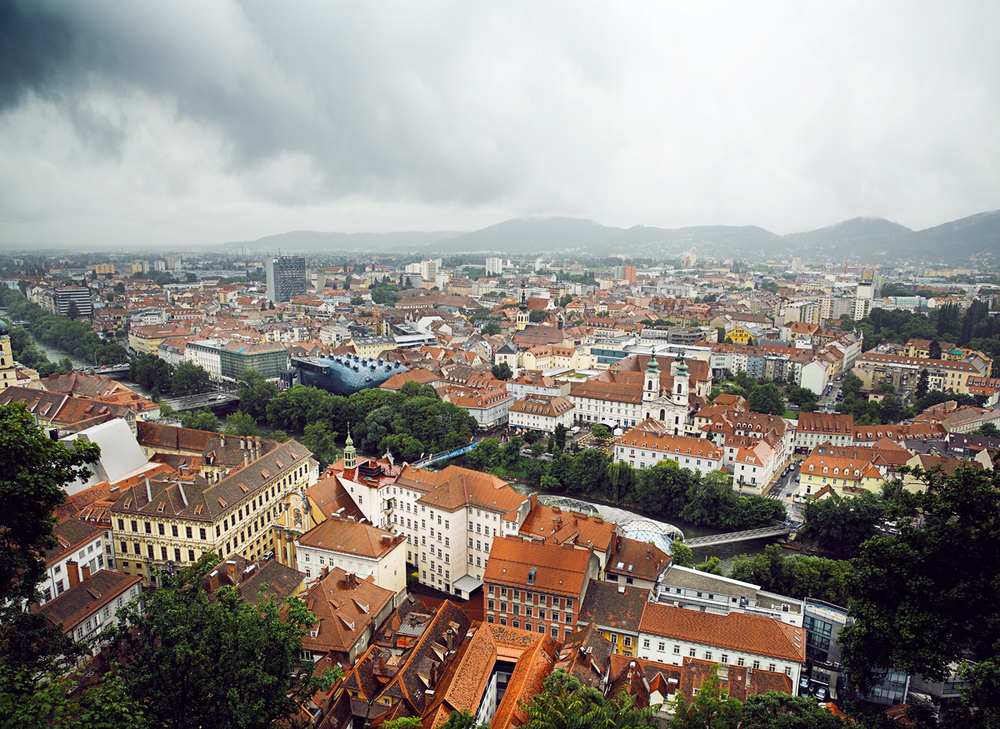 View of Graz from Schloßberg