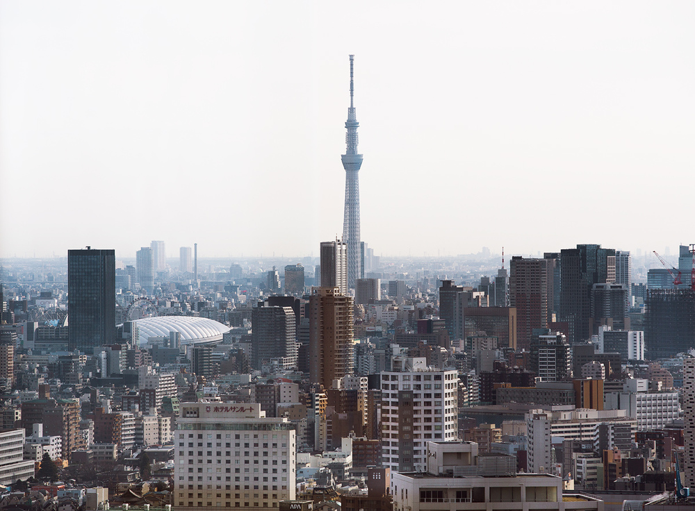 View of Tokyo Skytree, the new TV tower that is 634 meters tall.    Canon 5D Mark III + Canon EF 70-200mm f/2.8L