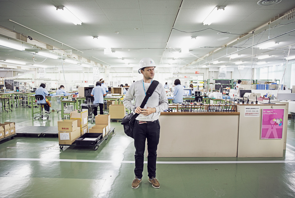 At Wacom's factory in Japan.