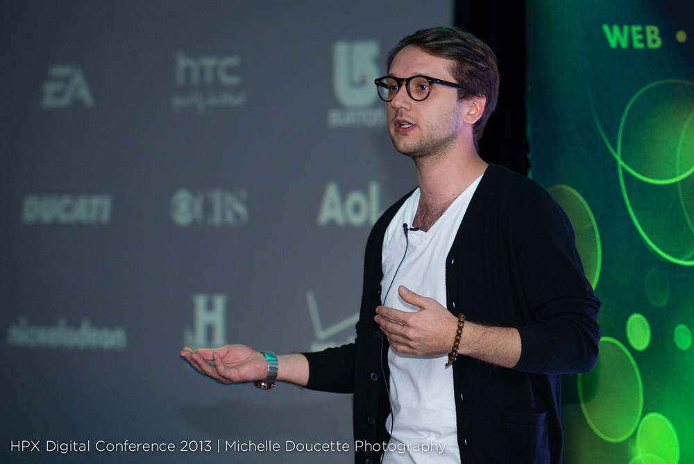 Speaking at HPX Digital 2013. Photo taken from here