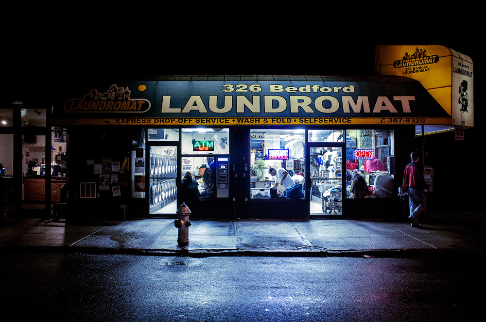 Laundromat on Bedford avenue. Fuji X100.