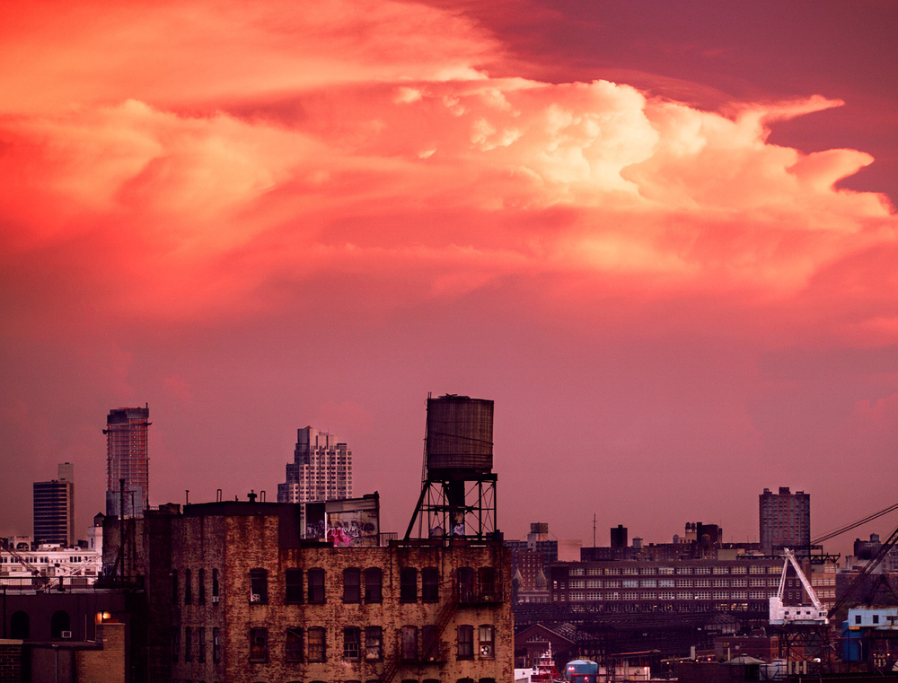 Sunset of Downtown Brooklyn. Canon 5D Mark III.