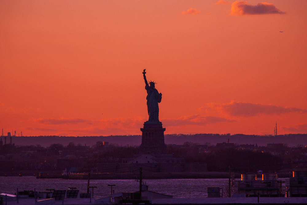 Statue of Liberty from Red Hook, Brooklyn