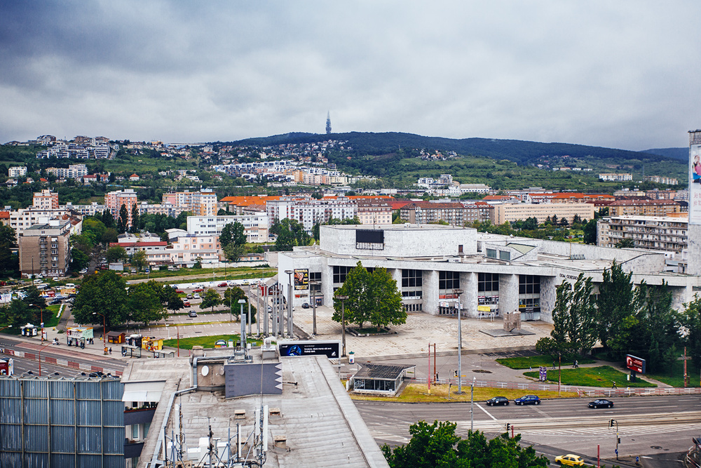 View of Bratislava from my hotel room, reminds me of the 90s in Russia and Estonia.