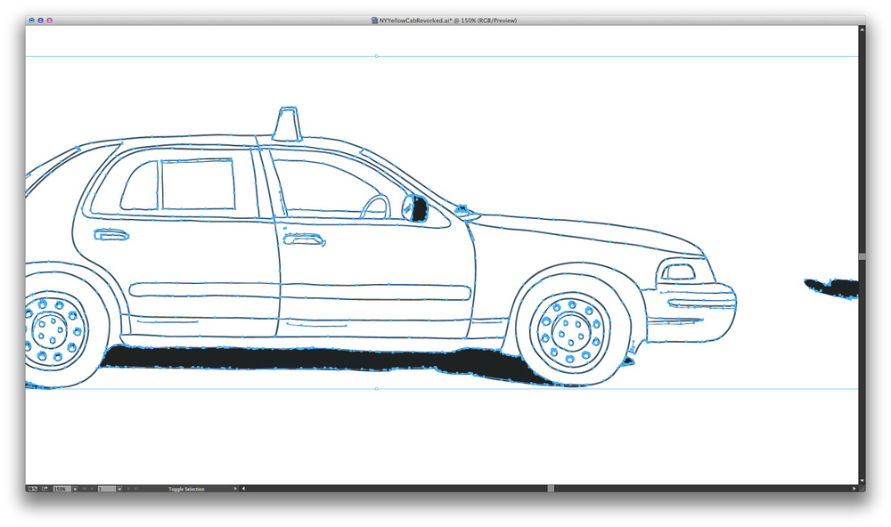 Redrawn vectors of the NYC Yellow Cab
